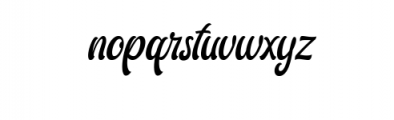 Ariestha.ttf Font LOWERCASE
