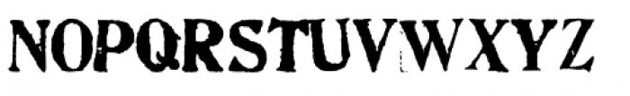 Artistamp Wet Jumbled Font UPPERCASE
