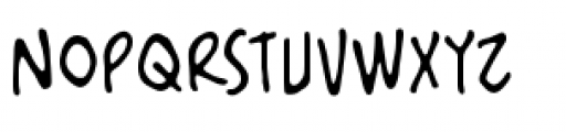 Artists Alley BB Regular Font LOWERCASE