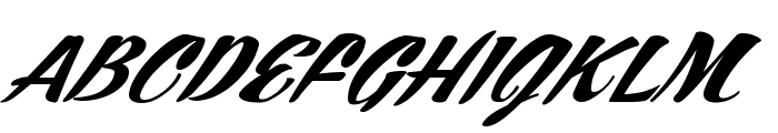 ARB245 Spencerian Script JUN-52 Normal Font UPPERCASE