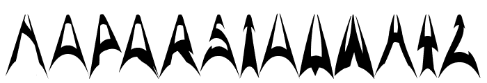 ARCH ENEMY Font UPPERCASE