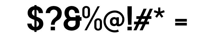 AREA KILOMETER 50 Font OTHER CHARS