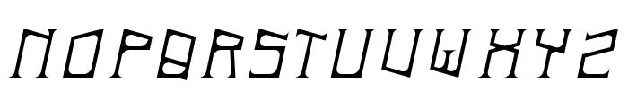ArDeck Italic Font UPPERCASE