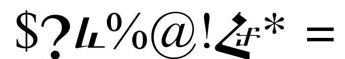 ArTarumianGrqiNor  Italic Font OTHER CHARS