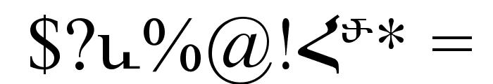 ArTarumianMatenagir Font OTHER CHARS