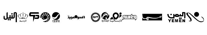 Arab TV logos Font UPPERCASE
