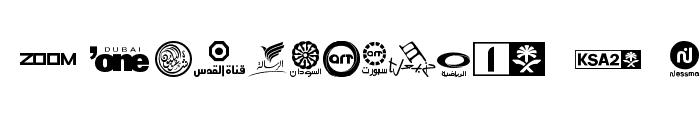Arab TV logos Font LOWERCASE