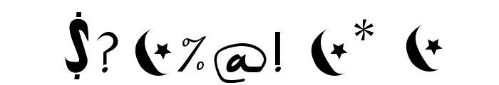 ArabDancesMediumItalic Font OTHER CHARS