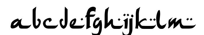 ArabDancesMediumItalic Font LOWERCASE