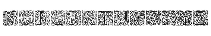 Arabesque Initialen Font UPPERCASE