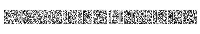 Arabesque Initialen Font LOWERCASE