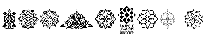 Arabesque Ornaments Font OTHER CHARS