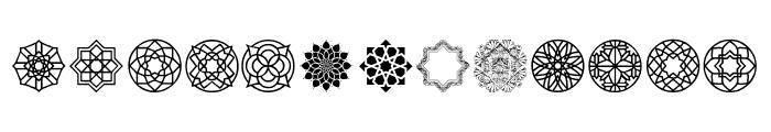 Arabesque Ornaments Font UPPERCASE