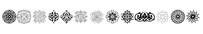 Arabesque Ornaments Font LOWERCASE