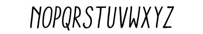 Aracne Condensed Regular Italic Font LOWERCASE