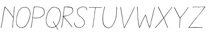 Aracne Light Italic Font LOWERCASE
