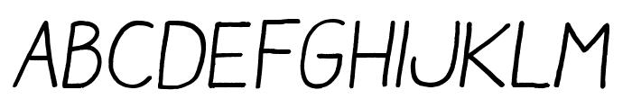 Aracne Regular Italic Font UPPERCASE