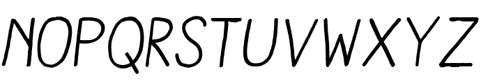 Aracne Regular Italic Font LOWERCASE