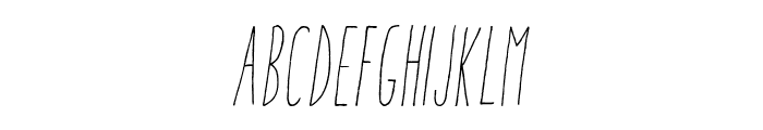 Aracne Ultra Condensed Light Italic Font UPPERCASE