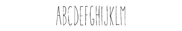 Aracne Ultra Condensed Light Font UPPERCASE
