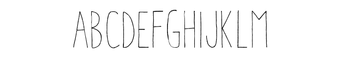 AracneCondensedLight Font LOWERCASE