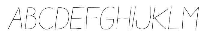 AracneLight-Italic Font UPPERCASE