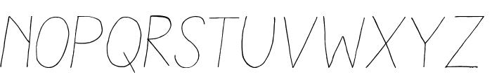 AracneLight-Italic Font LOWERCASE