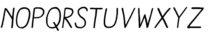 AracneRegular-Italic Font UPPERCASE