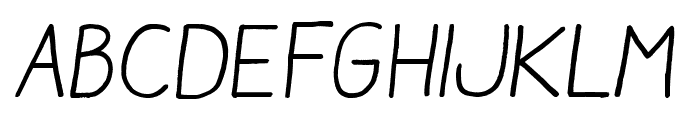 AracneRegular-Italic Font LOWERCASE