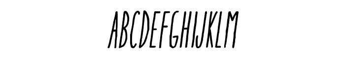 AracneUltraCondensedRegItalic Font LOWERCASE