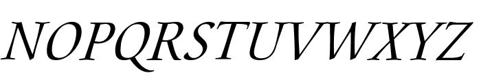 Aramis Italic Font UPPERCASE
