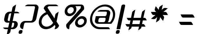 Arbeka  Italic Font OTHER CHARS