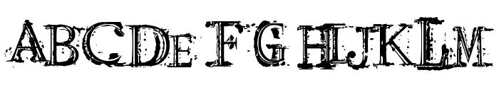 Arcade Fire Font UPPERCASE