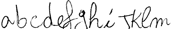 Arcangelo's Words Font LOWERCASE