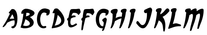 Arcanum Italic Font LOWERCASE