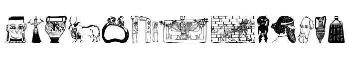 Archaeological Font UPPERCASE