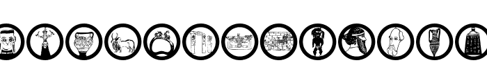 Archaeological Font LOWERCASE