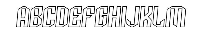 Archery Black Outline Italic Font UPPERCASE