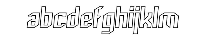 Archery Black Outline Italic Font LOWERCASE