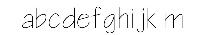 Architect Regular Font LOWERCASE