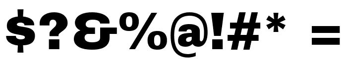 Archivo Black Regular Font OTHER CHARS