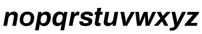 Archivo Bold Italic Font LOWERCASE
