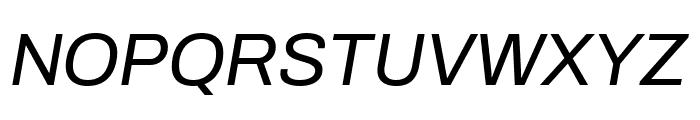 Archivo Italic Font UPPERCASE