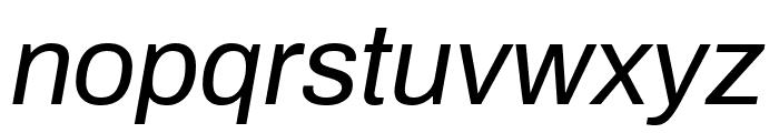 Archivo Italic Font LOWERCASE