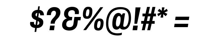 Archivo Narrow Bold Italic Font OTHER CHARS