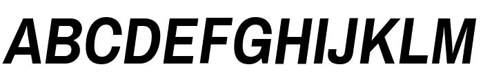 Archivo Narrow Bold Italic Font UPPERCASE