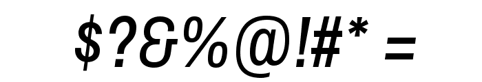 Archivo Narrow Italic Font OTHER CHARS