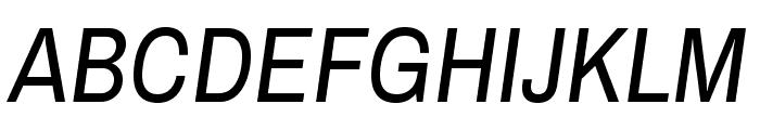 Archivo Narrow Italic Font UPPERCASE