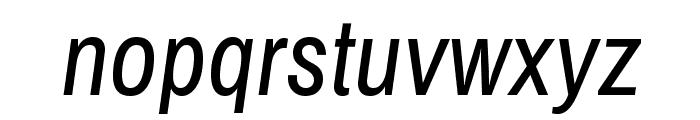 Archivo Narrow Italic Font LOWERCASE