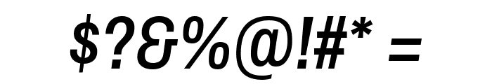 Archivo Narrow Medium Italic Font OTHER CHARS